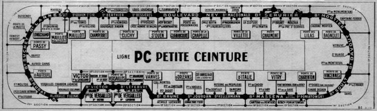 Plan du PC en 1980.